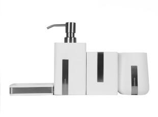 hausgebrauch新婚欧式浴室四件套简约高档树脂卫浴套品牌卫浴套装,