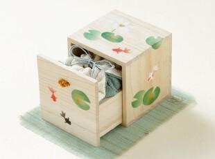特!【夏】日本进口《遊中川》和风香盒【香りの小箱 蓮金魚】,