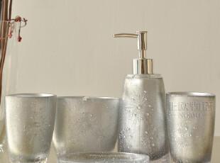 欧式奢华 洗漱用具用品 家居用品5件 树脂卫浴五件套装-水晶之恋,