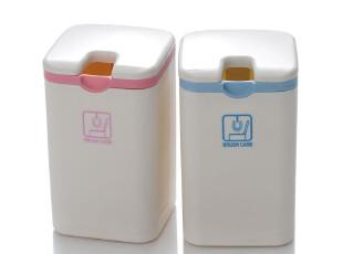 日本进口 山田化学 迷你垃圾桶 桌面垃圾桶 杂物桶 收纳桶 翻盖式,浴室储物,