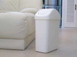 韩版办公室风格简约摇盖 长 方形家用垃圾桶 加厚型小号6L卫生间,