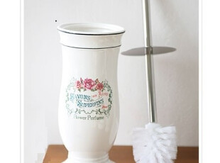 『韩国进口家居』T759 *巴黎风*浪漫田园抑菌陶瓷马桶刷套装,马桶配饰,