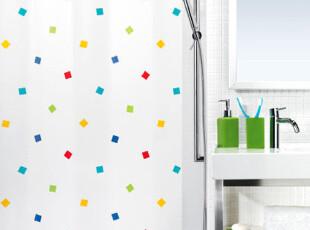 天猫Tmall  瑞士SPIRELLA 简约彩色闪动方块PEVA防水浴帘,