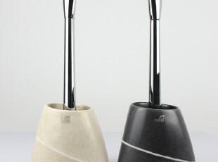 欧洲品牌Spirella Etna石头纹 耐用型厕所马桶刷 树脂 (可换刷头),马桶配饰,