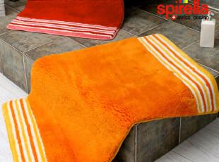 瑞士设计 SPIRELLA 简约桔色彩条 Jack orange 浴室干脚 晴纶地垫,浴室垫,