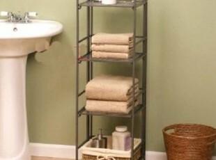 特价欧式田园铁艺,落地,浴室置物架,卫生间 收纳架 储物架 毛巾加,浴室储物,