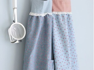 韩版可爱 厨房 咖啡厅围腰 田园围裙工作服时尚美容围裙,