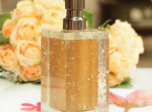 水晶胶乳液器 乳液瓶 沐浴乳瓶 皂液器家居酒店宾馆洗手液瓶金色,