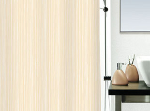 欧洲卫浴spirella米底白线涤纶布防水浴帘 浴室帘 浴室窗帘 包邮,