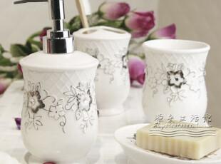 瑞士SpirellaDIAMOND 欧式浴室用品套件陶瓷镶钻卫浴四件套装包邮,