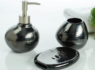 欧式卫浴套装浴室用品套件 贝壳陶瓷卫浴三件套 结婚礼物创意,