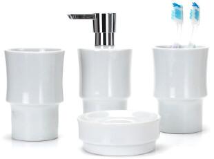 【欧洲时尚卫浴】spirella简约亮面陶瓷菲奥特白色浴室卫浴四件套,