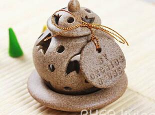 泰国香薰器具 进口小小球石龛熏香香盖/宝塔香炉/锥香炉/香具,