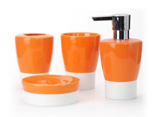 【欧洲卫浴丝普瑞】spirella亮面陶瓷瑞士瓷彩色浴室卫浴四件套,