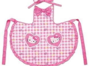 日本进口代购 正品Sanrio Hello Kitty魅力粉心系列围裙,