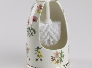 潮商 日用瓷 陶瓷 套装马桶刷座 卫浴套件 创意,马桶配饰,