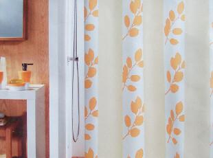 『欧洲卫浴品牌』spirella Clark间段米色条纹 防水涤纶布 浴帘,