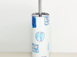 【特价!】不锈钢马桶刷 印花图案马桶刷 配送刷头接水杯 小鱼款式,马桶配饰,