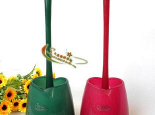韩国进口正品 TF品牌 带座马桶刷 厕所刷----翡翠绿色/闪银红色,马桶配饰,