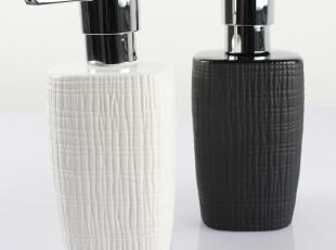 【瑞士品牌丝普瑞】Retro粗麻布纹 凹凸手感 陶瓷 乳液瓶皂液器,