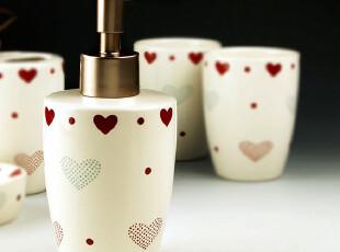 乡村.童话 卫浴洁具套装五件套 漱口杯洗手液瓶洗漱五件套心相印,