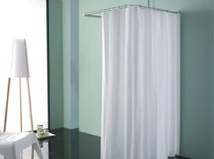 雅居坊不锈钢浴帘杆不锈钢 U型浴帘杆 80*80*80CM U形杆 特价,