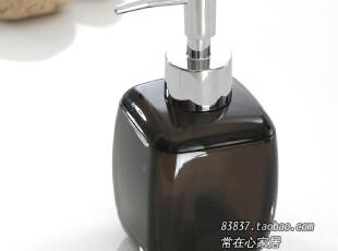 迪拜风情 酒店卫浴 时尚精品 亚克力洗手液瓶 乳液泵 黑 红 白色,