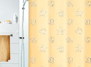 『欧洲时尚卫浴』spirella Tuvalu贝壳海星涤纶布防水浴帘 米黄色,