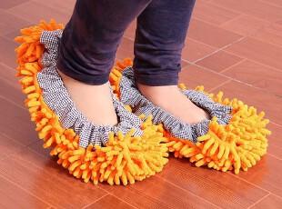 雪尼尔清洁鞋套 擦地拖鞋 懒人拖鞋可拆洗 木地板专用拖鞋创意,