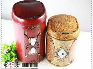 欧本电子感应垃圾桶 智能彩绘时尚创意不锈钢垃圾筒江浙沪包邮,