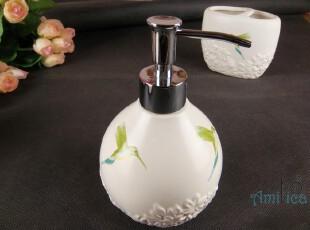 ◎蜂鸟白色浮雕花洗手液瓶|乳液瓶|皂液瓶|沐浴露瓶|洗洁精瓶,
