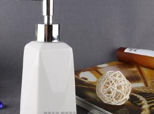 欧洲时尚陶瓷卫浴 八角白色乳液瓶 乳液器 洗手液瓶,