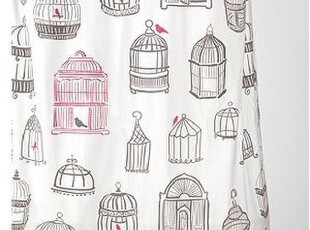美国代购Urban Outfitters Birdcage Shower Curtain 鸟笼款浴帘,