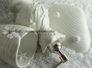海之趣陶瓷浴室用品三件套 贝壳光泽立体造型 可爱水杯 海星卖萌,