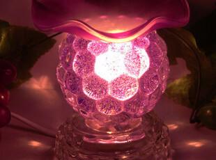 多色 菠萝葡萄水晶 香薰灯/电香熏炉/精油灯/香薰炉 助眠 美容,