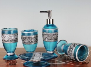 国际同步专柜产品复兴水晶胶树脂卫浴五件套 卫浴套装,