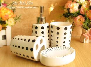 精美时尚 高品质 陶瓷 卫浴 四件套 洗漱套件 浴室用品 礼盒装,