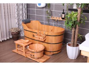 在水一方卫浴正品牌橡木桶浴缸沐浴桶浴盆泡澡桶特价WSBT115包邮,