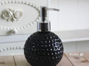 现代时尚简约风格*陶瓷卫浴洗手液瓶*黑色款,