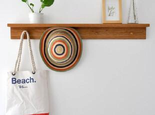 包邮出口外贸原单实木 浴室厨房门厅 置物架衣帽架 壁挂挂衣架,
