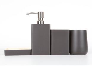 hausgebrauch 简约时尚卫浴四件套 洗漱套件 浴室用品套装 H51000,