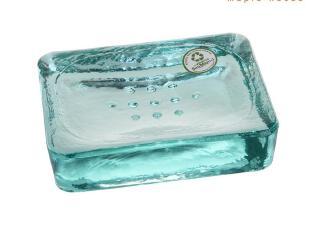 美朴生活 西班牙进口 夏奈尔环保玻璃香皂盘香皂盒 香皂架 肥皂盒,