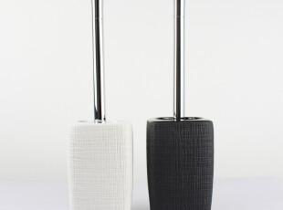 瑞士品牌 SPIRELLA 复古粗麻袋纹 陶瓷 高档马桶刷套装 2012新品,马桶配饰,