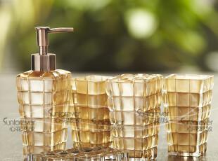 专柜正品礼盒新居新婚礼Cassina卡西纳透明马赛克洗漱卫浴五件套,