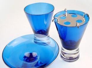 [多美生活]家居用品/欧美风情/蓝色玻璃卫浴三件套/装浴室用品,