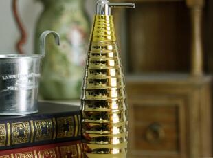现代时尚简约风格 陶瓷卫浴洗手液瓶 浴室酒店浴室用品,