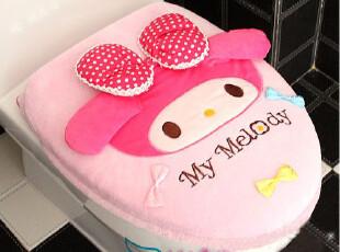 日本melody 美乐蒂可爱蝴蝶结马桶套 坐便 垫坐圈 厕所卫浴两件套,马桶配饰,