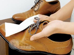 日本进口LEC 皮革用蜡质免洗剂擦拭巾 皮包清洁湿巾 皮鞋擦鞋湿巾,