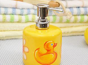 可爱黄小鸭 乳液瓶 沐浴露洗手液瓶 卫浴用品 乳液分装瓶,