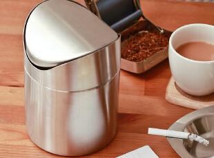 包邮摇盖不锈钢厕所垃圾桶 台上桌面垃圾桶 宜家时尚韩国厨房用品,